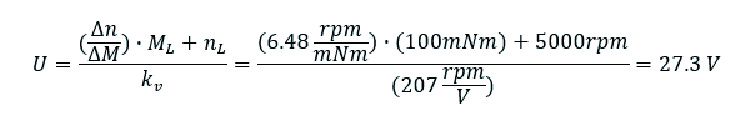 カタログ上の回転数/トルク勾配を用いる場合
