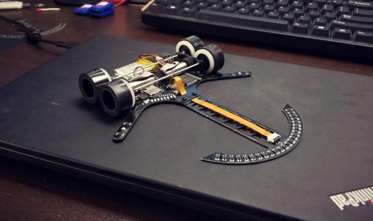 第34回 全日本学生マイクロマウス ロボトレース優勝 梅本篤さんのマシン