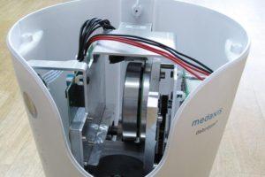 maxonECフラット90モーターを備えたdebritom +の内部